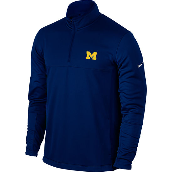 59777501dbe3df Nike Golf University of Michigan Navy Therma-FIT 1 4 Zip Pullover