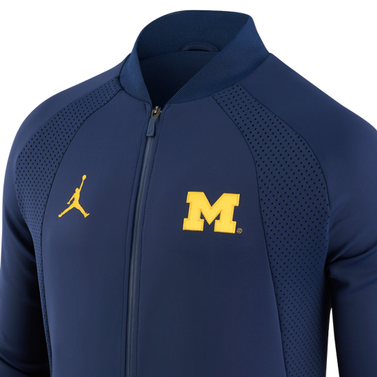 sale retailer 2762a 8afdc Jordan University of Michigan Football Navy AJ1 ''WINGS ...