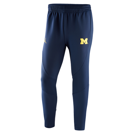 afedc7250ae Jordan University of Michigan Football Navy AJ1 ''WINGS'' Warm Up Pant