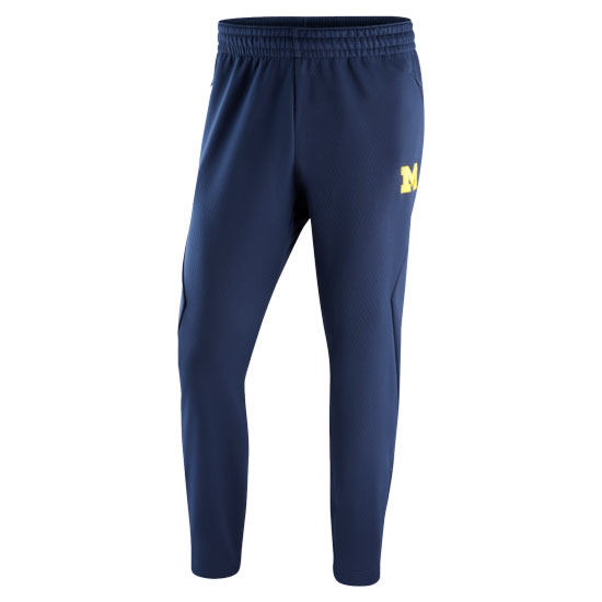 Jordan University of Michigan Football Navy AJ Sideline Therma Warm-Up Pant