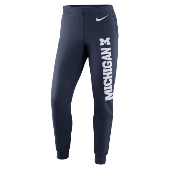Nike University of Michigan Football Navy Stadium Practice Warm-Up Pant