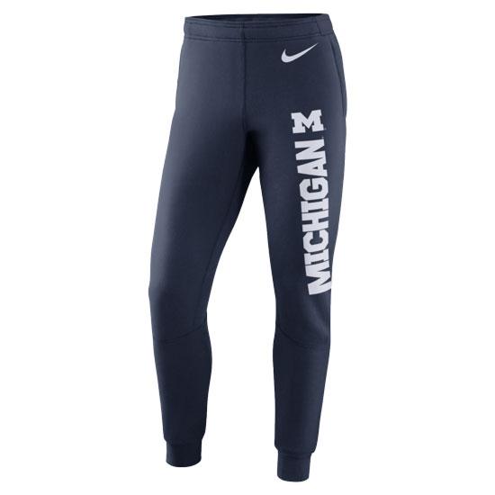 Nike University of Michigan Football Navy Stadium Practice Warm-Up Pant