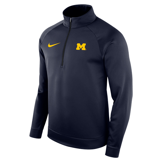 Nike University of Michigan Navy Therma-FIT Half-Zip Pullover