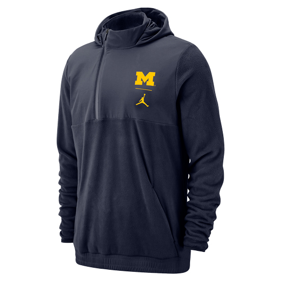 Jordan University of Michigan Football Therma Sphere Max Half-Zip Pullover Jacket