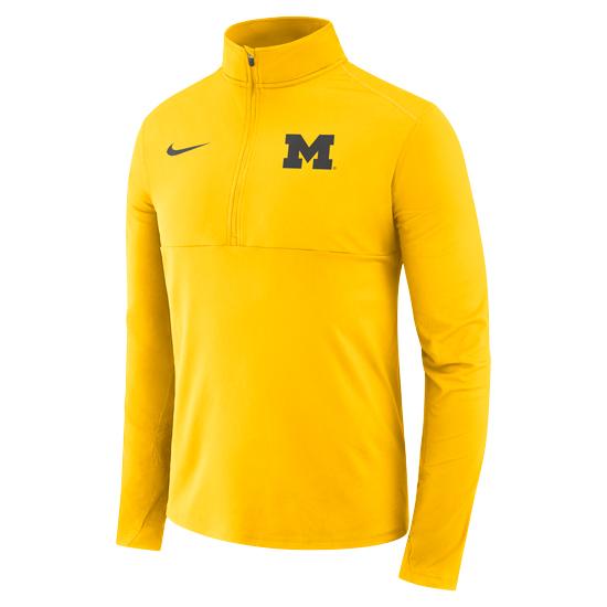 Nike University of Michigan Maize Dri-FIT Core 1/2 Zip Pullover