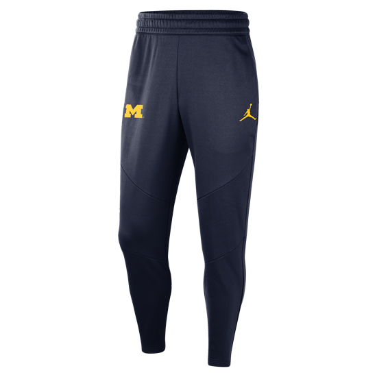 Jordan University of Michigan Football Navy 23 Alpha Therma-FIT Practice Pant