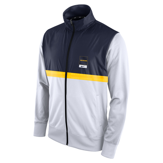 Nike University of Michigan Modern Fan White/Navy Full Zip Track Jacket