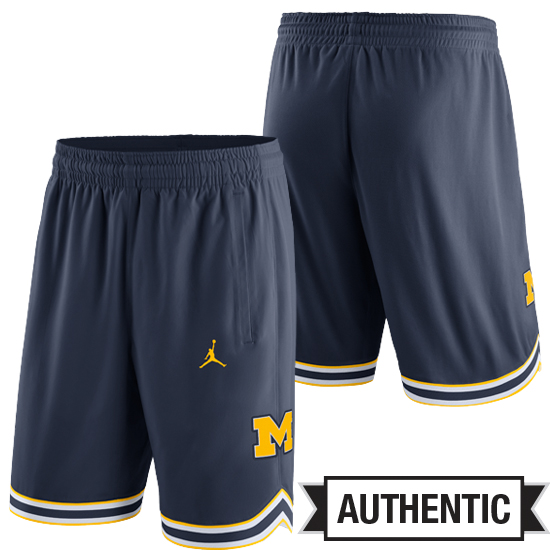 Jordan University of Michigan Basketball Navy Authentic Shorts