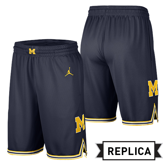 a3a22717f947 Jordan University of Michigan Basketball Navy Replica Shorts
