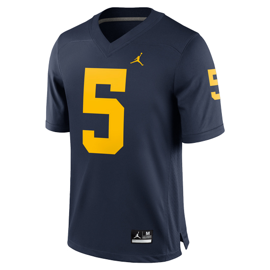 factory authentic 6f0cd e36bd Jordan University of Michigan Football Navy Jabrill Peppers ...