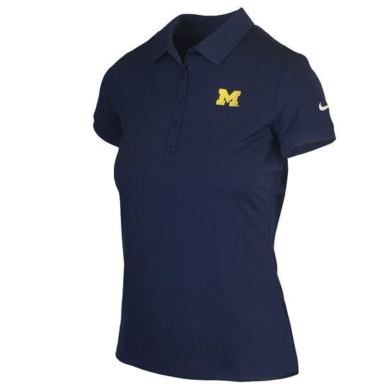 Nike Golf University of Michigan Ladies Navy Victory Polo Shirt