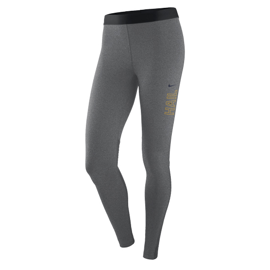 Nike University of Michigan Women's Carbon Heather Pro Warm Leggings