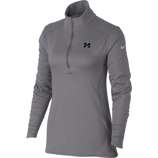 Nike Golf University of Michigan Women's Gray Therma-FIT 1/4 Zip Pullover