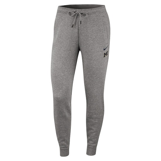 Nike University of Michigan Women's Gray Triblend Rally Pants
