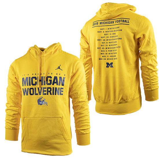 f88991b53c405e Jordan University of Michigan Football 2018 Season Therma-FIT Hooded  Sweatshirt. Product Thumbnail Product Thumbnail Product Thumbnail
