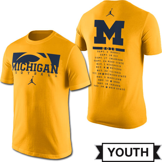 Jordan University of Michigan Football Youth 2016 Season Tee