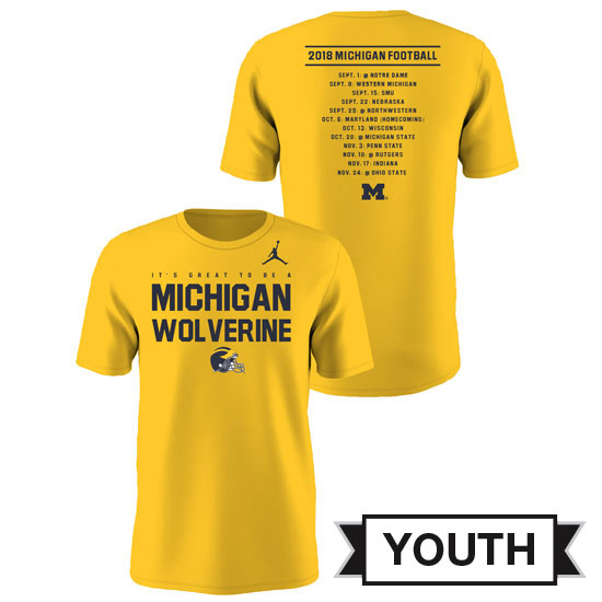 Jordan University of Michigan Football Youth 2018 Season Tee