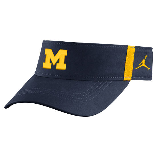 Jordan University of Michigan Football Navy Aerobill Sideline Coaches Dri-FIT Visor