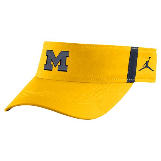Jordan University of Michigan Football Yellow Aerobill Sideline Coaches Dri-FIT Visor