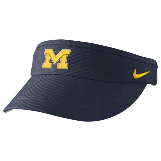 Nike University of Michigan Football Navy Sideline Dri-FIT Visor