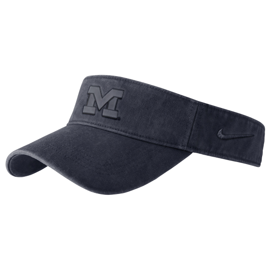 Nike University of Michigan Navy Pigment Washed Visor