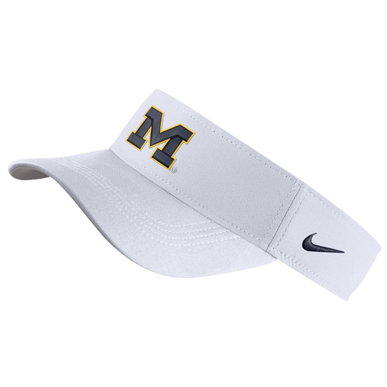 Nike University of Michigan White Dri-FIT Visor