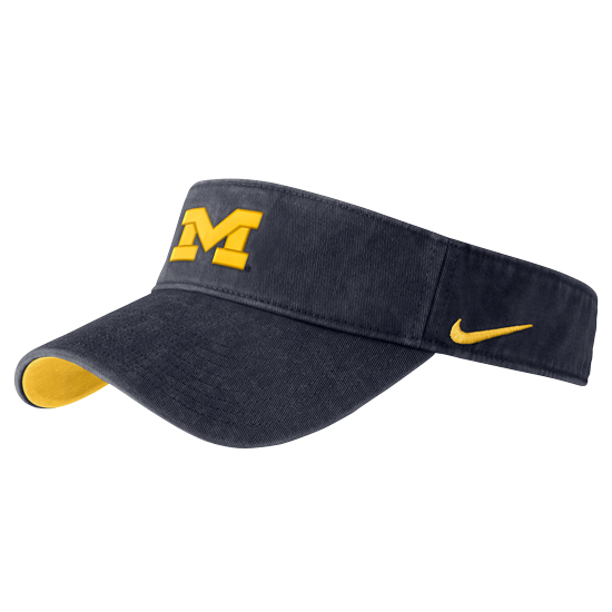Nike University of Michigan Washed Navy Visor