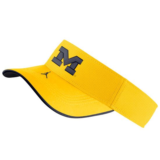 Jordan University of Michigan Football Maize Aerobill Sideline Visor