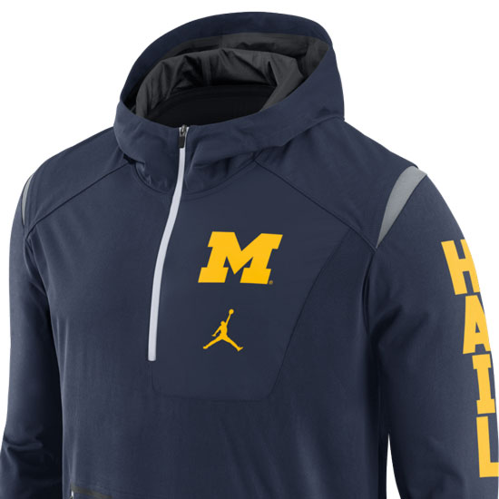 Jordan University of Michigan Football Navy Alpha Fly 1/4 Zip ...