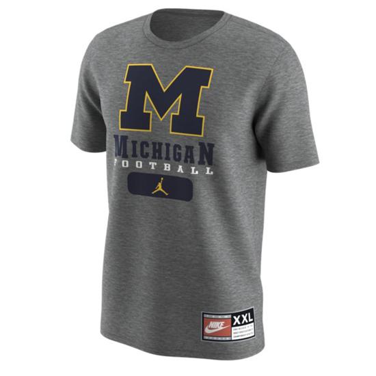 Jordan University of Michigan Football Gray 1997 Throwback Tee
