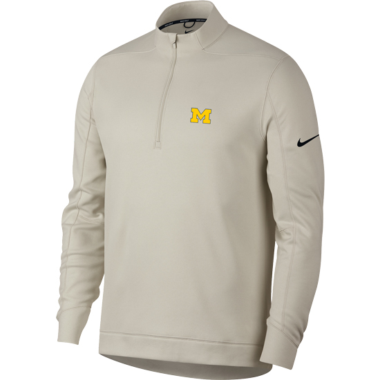 dc8be4c9 Nike Golf University of Michigan Bone White Therma-FIT 1/4 Zip Pullover.  Product Thumbnail Product Thumbnail