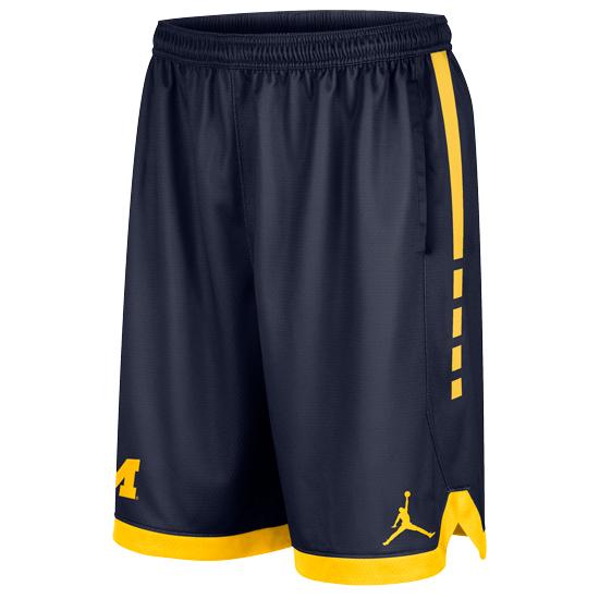 Jordan University of Michigan Navy Dri-FIT Elite Shorts