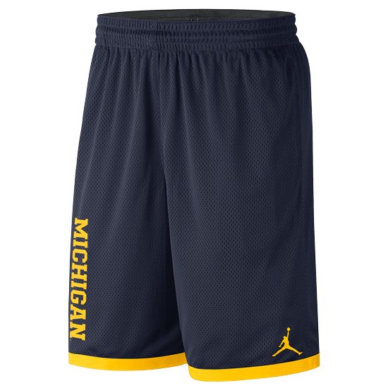 Jordan University of Michigan Basketball Navy Classic Mesh Shorts