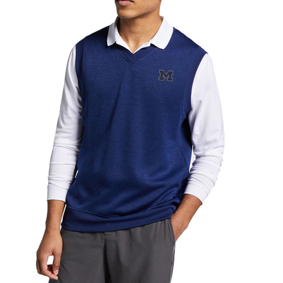 Nike Golf University of Michigan Blue Void Dri-FIT Golf Sweater Vest