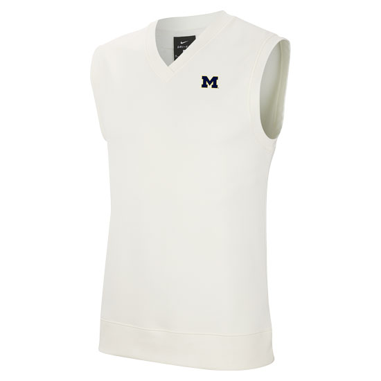 Nike Golf University of Michigan Off-White Dri-FIT Sweater Vest