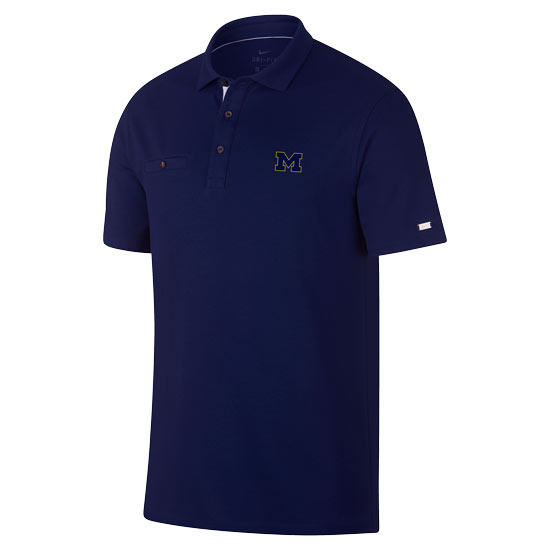 Nike Golf University of Michigan Navy Players Pocket Polo