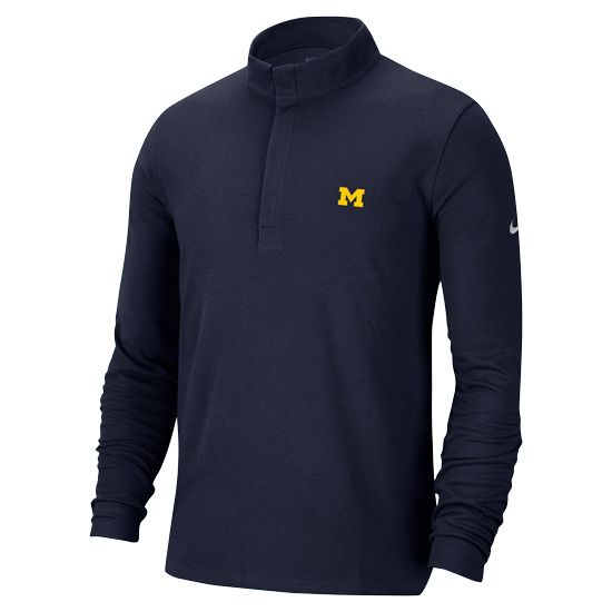 Nike Golf University of Michigan Navy Dri-FIT Victory 1/2 Zip Pullover