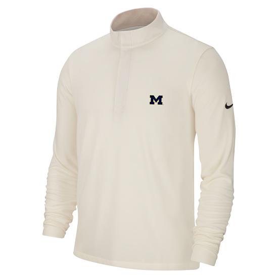 Nike Golf University of Michigan Sail White Dri-FIT Victory 1/2 Zip Pullover