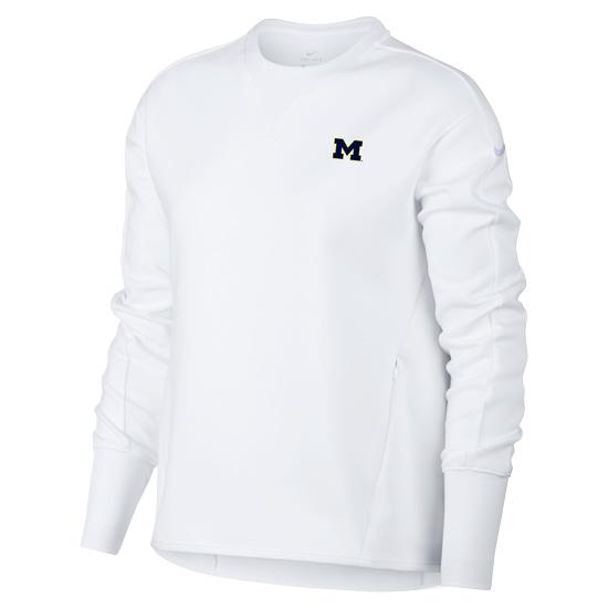 Nike Golf University of Michigan Women's White Dri-FIT Crewneck Sweatshirt