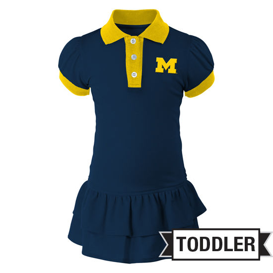 Outerstuff University of Michigan Toddler Girls Polo Dress
