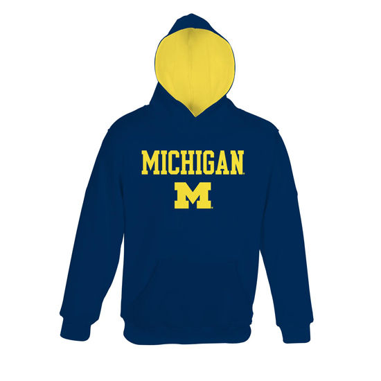 Outerstuff University of Michigan Youth Navy Pullover Hooded Sweatshirt