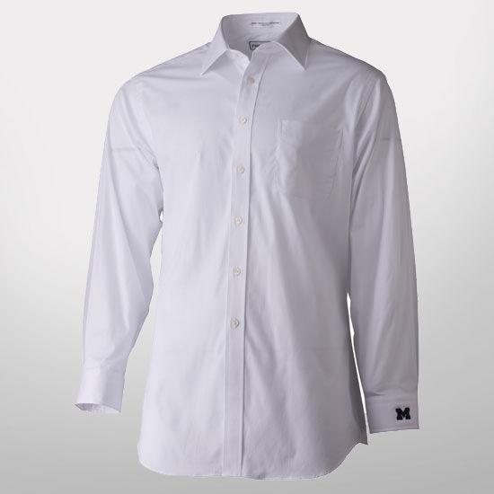 Paul Fredrick White Spread Collar Trim Fit Dress Shirt