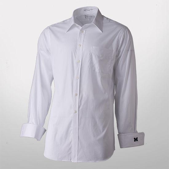 Paul Fredrick White French Cuff Trim Fit Dress Shirt