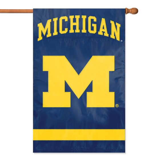 Party Animal University of Michigan Oversized Block ''M'' Two-Sided House Banner