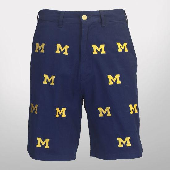 Pennington & Bailes University of Michigan Navy Stadium Shorts