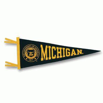 Collegiate Pacific University of Michigan Large Pennant w/ Seal (12x30)