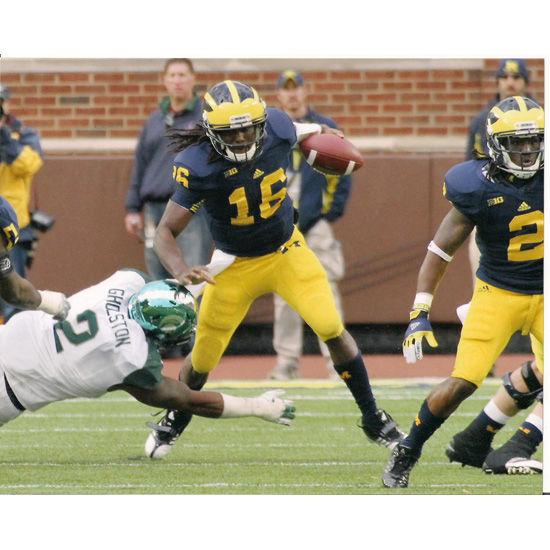 University of Michigan Football Denard Robinson v. MSU 8x10 Photo