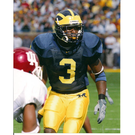 University of Michigan Football Marlin Jackson (v. IU) 8x10 Glossy Photo
