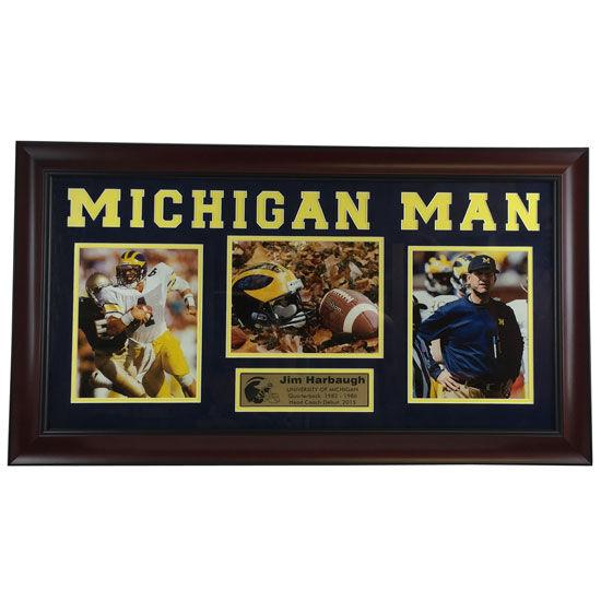 University of Michigan Football Framed Picture: Jim Harbaugh Michigan Man