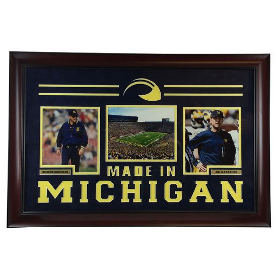 University of Michigan Football Framed Picture: Bo & Jim Made in Michigan